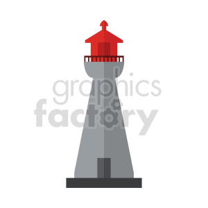 lighthouse vector art clipart. Commercial use image # 415694