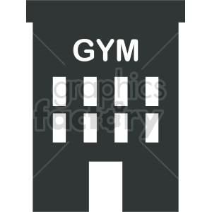 gym storefront vector icon