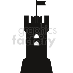 castle tower vector clipart clipart. Commercial use image # 415733