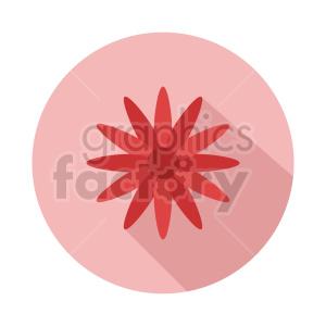 clipart - flower vector clipart design 1.