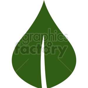 single green leaf vector design clipart. Commercial use image # 415825
