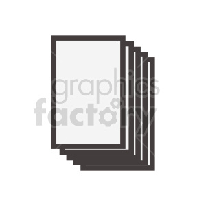documents stacked vector clipart clipart. Commercial use image # 415889