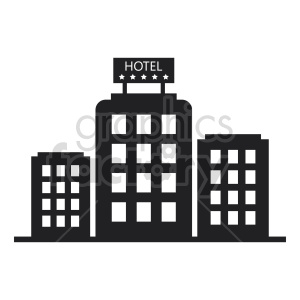 hotel vector icon clipart. Commercial use image # 415909