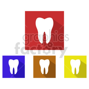 dental tooth icon vector set clipart. Commercial use image # 415987