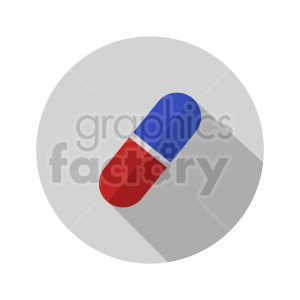 red blue pill on circle background vector clipart clipart. Commercial use image # 415998