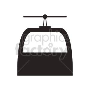 clipart - ski lift vector graphic.