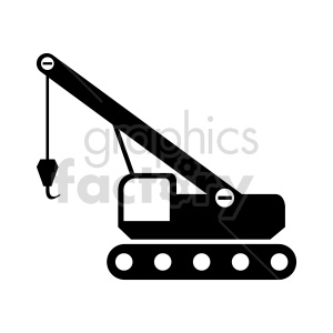 crawler crane graphic clipart. Commercial use image # 416041