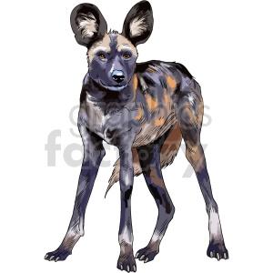 clipart - hyena vector clipart.