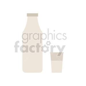 milk bottle and cup vector graphic clipart. Commercial use image # 416207