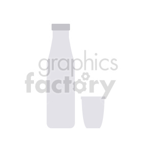 milk bottle with cup vector graphic clipart. Commercial use image # 416216