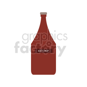 cartoon ketchup vector clipart clipart. Commercial use image # 416252