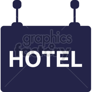 hotel sign vector graphic clipart. Commercial use image # 416342
