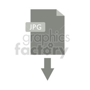 clipart - download jpg symbol vector clipart.