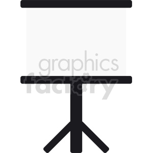 standing whiteboard vector clipart clipart. Commercial use image # 416411