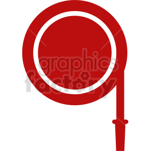 fire hose icon clipart. Commercial use image # 416430