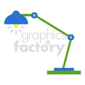 cartoon desk lamp vector icon clipart. Commercial use image # 416432