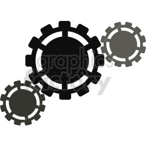gears vector design clipart. Commercial use image # 416462