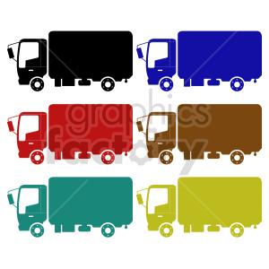 clipart - box truck vector clipart bundle.