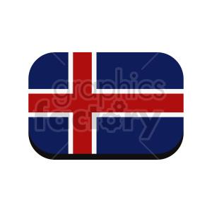 clipart - iceland flag vector clipart design.