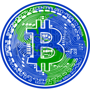 bitcoin vector graphic clipart. Commercial use image # 416689