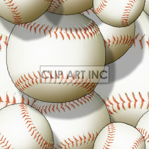 Baseball tiled background clipart. Commercial use image # 128154