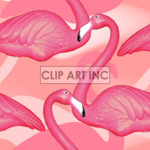 tiled flamingo background clipart. Royalty-free image # 128164