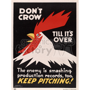 Keep Pitching War Poster clipart. Royalty-free image # 152910