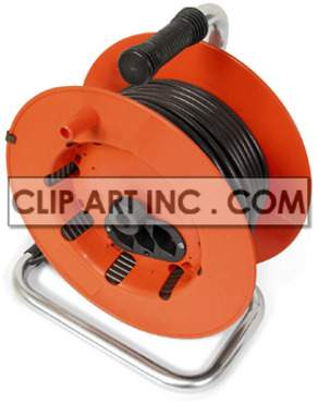 cable electrical plug metal plastic orange   2i0060lowres photos objects