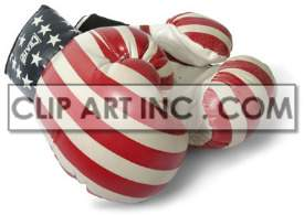 Boxing gloves clipart. Royalty-free image # 177440