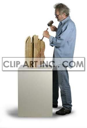 artist male sculptor sculpting working work contemplating thinking looking artists creativity hammer shaping sculpture carving   3a0021lowres photos people