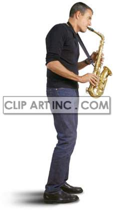 artist male saxophone saxophonist wind instrument playing standing performance performer musician concert jazz entertainment  Photos People
