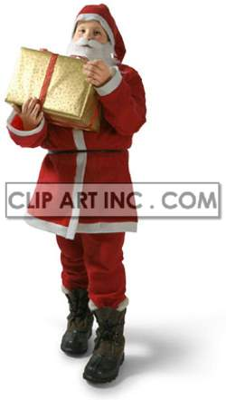 santa claus christmas child gifts presents festivity celebration   3F6006lowres Photos People