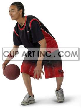kid playing basketball photo clipart. Royalty-free image # 177510