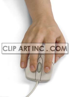 hand computer technology mouse business control   3I1015lowres Photos People