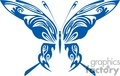 butterfly in blue with white inlay designed wings
