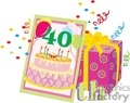 birthday birthdays anniversary anniversaries celebration celebrate 40 40th present presents gift gifts gif, png, jpg, eps