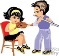 two small children boy and girl play musical instraments gif, png, jpg, eps