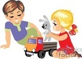 two small children happy playing with toys gif, png, jpg, eps