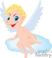 a happy angel sitting on a single cloud gif, png, jpg, eps