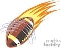 Flaming spiral football