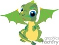 cute baby green dragon