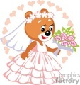bride teddy bear