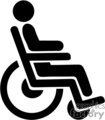 black and white wheelchair symbol