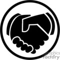 hand shake agreement icon vector art