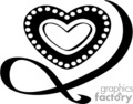 vector clip art vinyl-ready cutter black white heart hearts valentines valentine love gif, png, jpg, eps