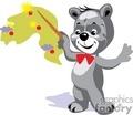 grey boy teddy bear directing the orchestra gif, png, jpg, eps