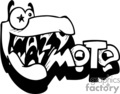 graffiti tag tags word words art vector clip art graphics writing city crazy moto monster monsters character alligator vinyl vinyl-ready signage black white ready cutter gif, png, jpg, eps