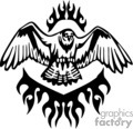 animal animals flame flames flaming fire vinyl-ready vinyl ready hot blazing blazin vector eps gif jpg png cutter signage black white bird birds flying hawk hawks eagle eagles