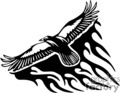 animal animals flame flames flaming fire vinyl-ready vinyl ready hot blazing blazin vector eps gif jpg png cutter signage black white eagle eagles flying bird birds