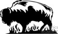 animal animals flame flames flaming fire vinyl-ready vinyl ready hot blazing blazin vector eps gif jpg png cutter signage black white buffalo buffalos wild bison bisons
